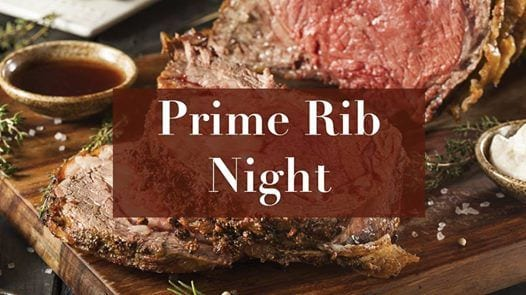 Prime Rib Night at the Tavern!