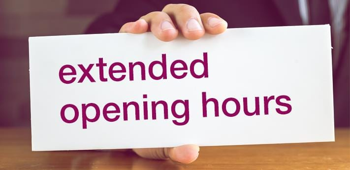 Extended Tavern Hours - Wednesday, 11/21/2018