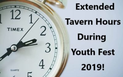 Extended Tavern Hours for Youth Fest 2019!